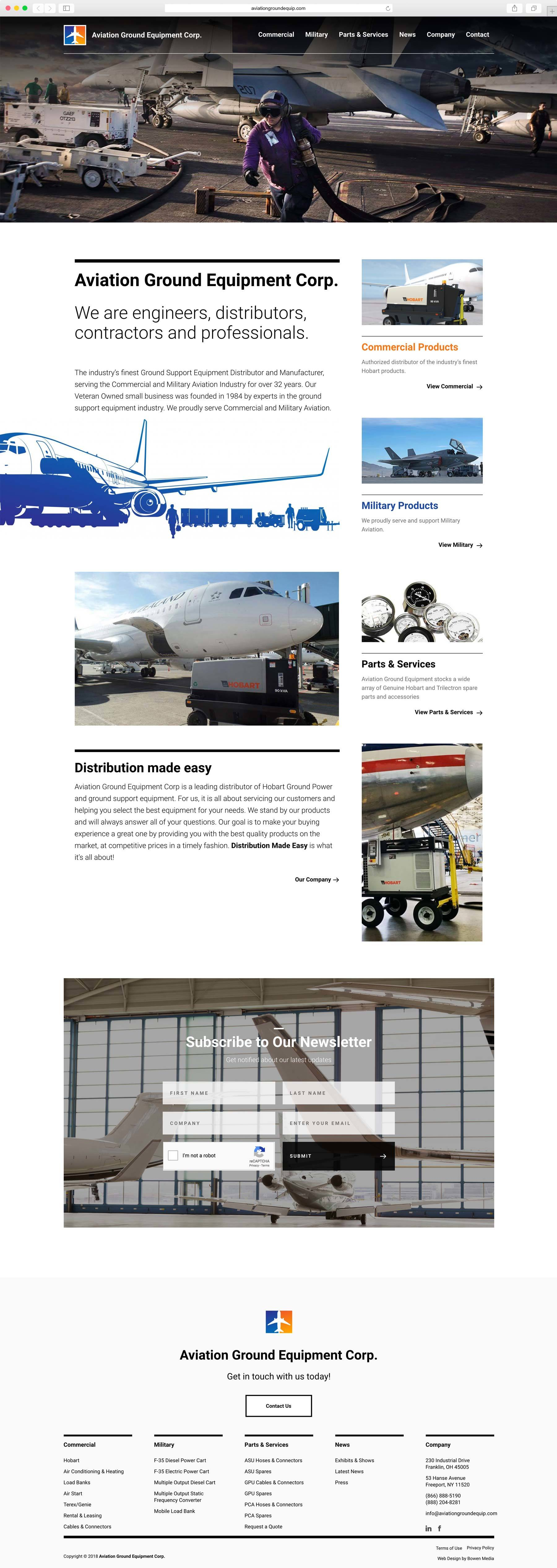 Aviation Ground Equipment Project | Bowen Media