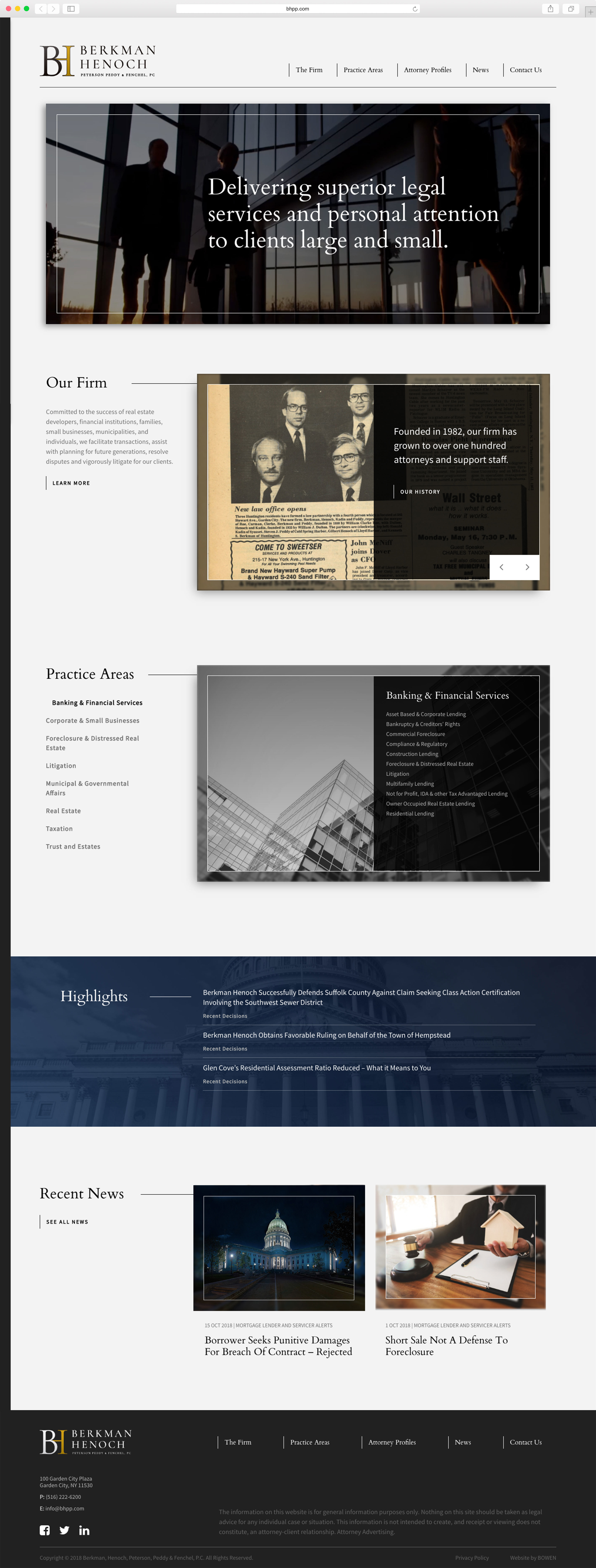 Law firm web design project