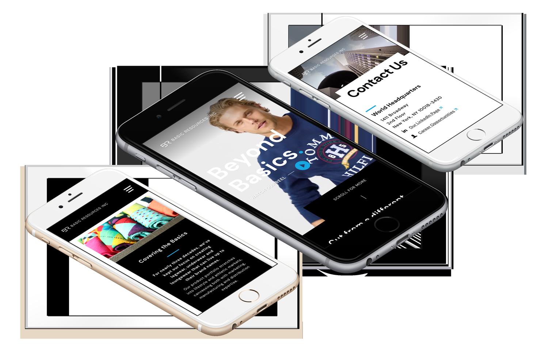 Basic resources custom web design on mobile