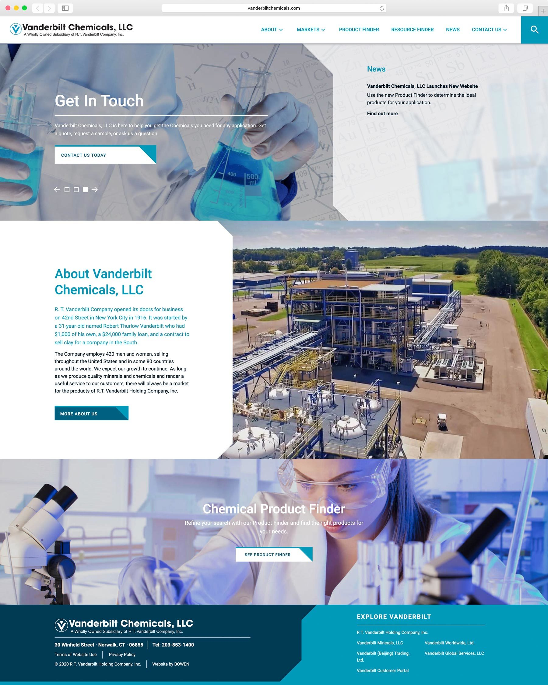 manufacturing web design , manufacturing website , web design services by BOWEN